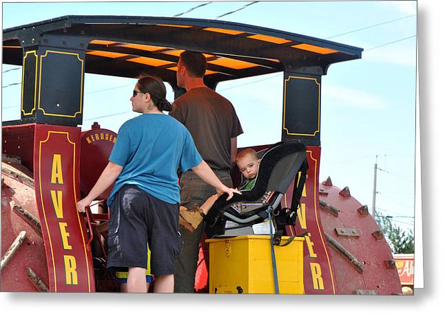 Smooth Ride Greeting Cards - Smooth Ride Steam Tractor Greeting Card by Wayne Sheeler