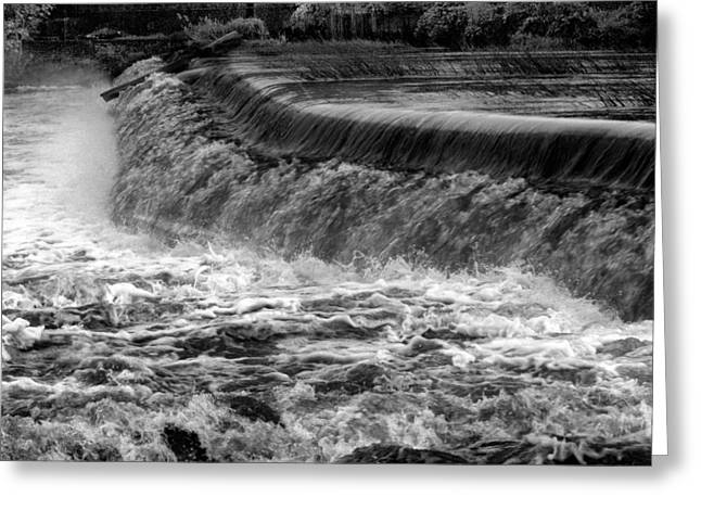 Abstract Forms Greeting Cards - Smooth Runs The River Greeting Card by Clive Beake