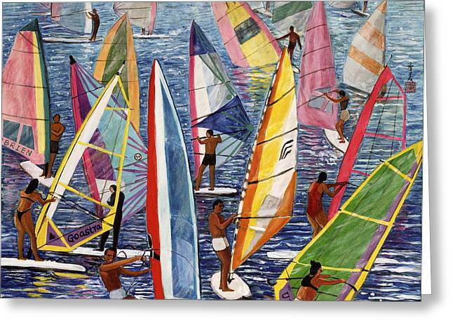 Windsurfer Greeting Cards - Smooth Sailing Greeting Card by Komi Chen