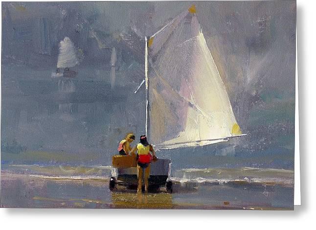 Brushwork Greeting Cards - Smooth Sailing Greeting Card by Richard Robinson