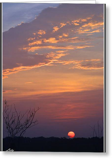 Angel Blues Greeting Cards - Smooth Sunset Greeting Card by Leticia Latocki