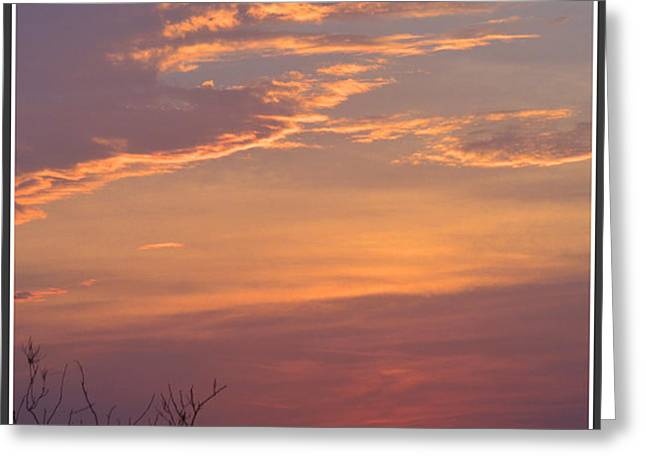 Smooth Sunset Greeting Card by Leticia Latocki