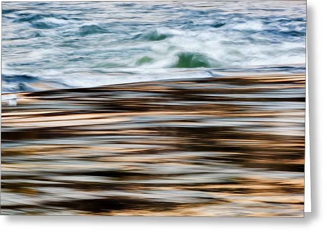 Falling Water Greeting Cards - Smooth Water Rapids Greeting Card by Bill Wakeley