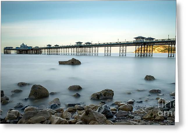 Pier Digital Greeting Cards - Smooth Waters Greeting Card by Adrian Evans