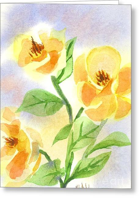 Green And Yellow Greeting Cards - Smoothly Magnolia Greeting Card by Kip DeVore
