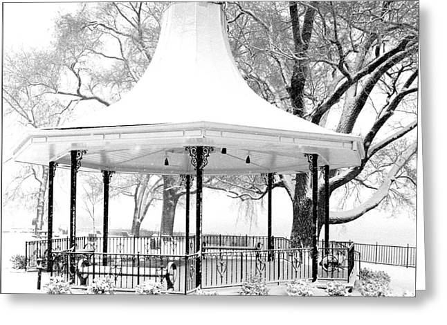 Smothers Park Greeting Cards - Smothers Park Gazebo Greeting Card by Wendell Thompson