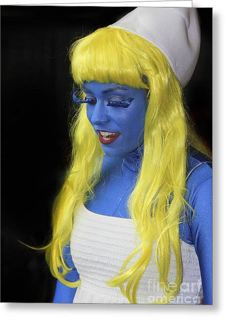 Smurfette Greeting Cards - Smurfette Blue - James La Mere /ATS Greeting Card by James La Mere
