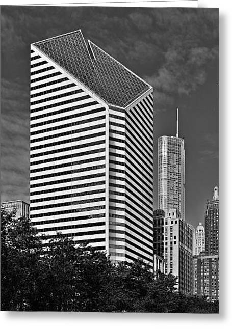Grant Park Greeting Cards - Smurfit-Stone Chicago - now Crain Communications Building Greeting Card by Christine Till