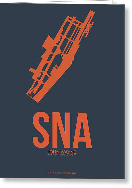 Orange County Greeting Cards - SNA Orange County Airport Poster 1 Greeting Card by Naxart Studio