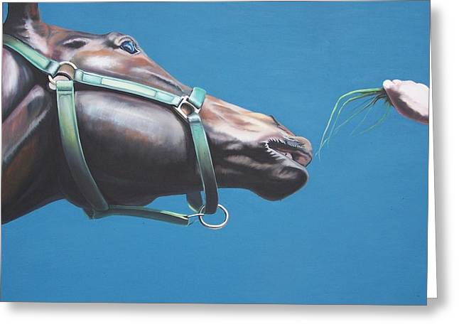 Equestrian Commissions Greeting Cards - Snack Greeting Card by Steve Messenger