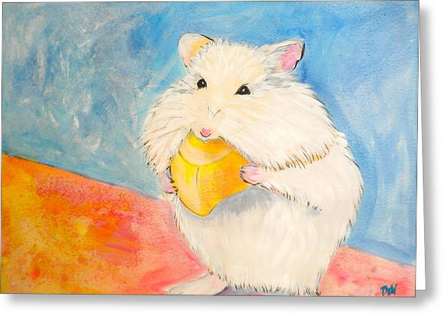 Dry Brush Greeting Cards - Snack Time Greeting Card by Debi Starr
