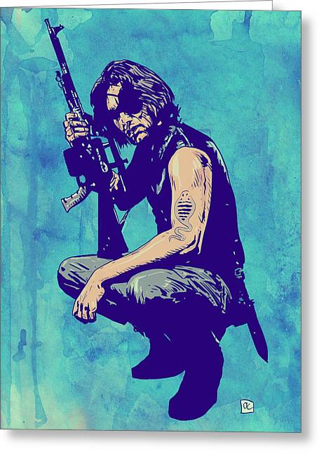 Scifi Greeting Cards - Snake Plissken Greeting Card by Giuseppe Cristiano