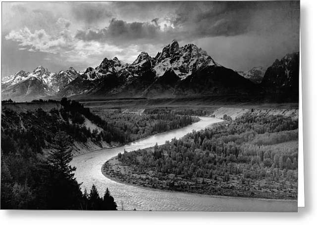 Snake River In The Tetons - 1930s Greeting Card by Mountain Dreams