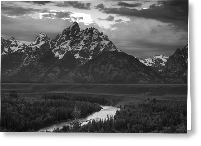 Snake River Greeting Cards - Snake River in the Tetons Greeting Card by Andrew Soundarajan