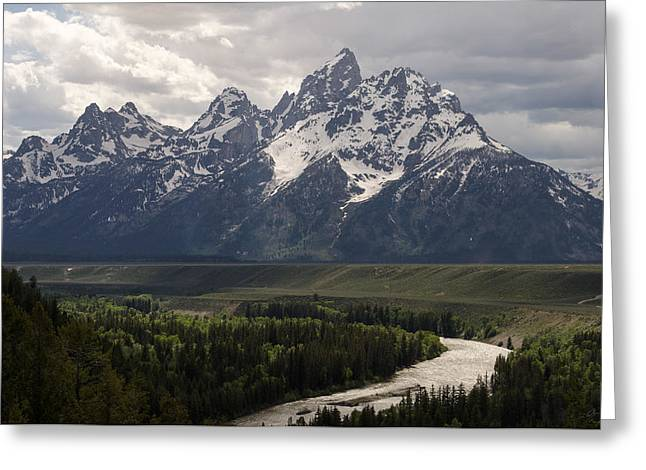 Snake Hole Greeting Cards - Snake River Overlook - Tetons Greeting Card by Aaron Spong