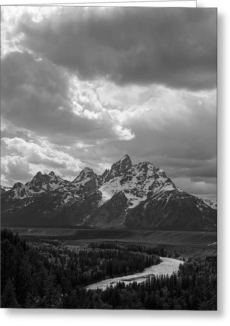 Snake Hole Greeting Cards - Snake River Overlook - Vertical Format Greeting Card by Aaron Spong