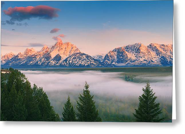 Acryl Greeting Cards - Snake River Overlook Grand Teton N.P Greeting Card by Henk Meijer Photography