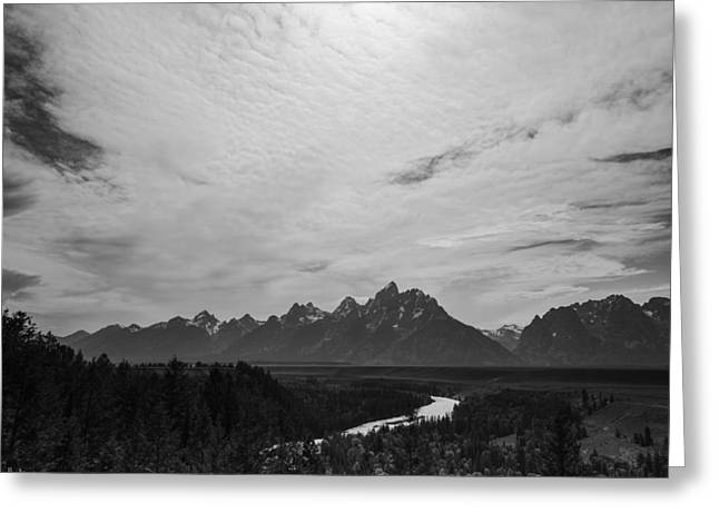 Overcast Day Greeting Cards - Snake River Overlook in Grand Teton National park Greeting Card by Vishwanath Bhat