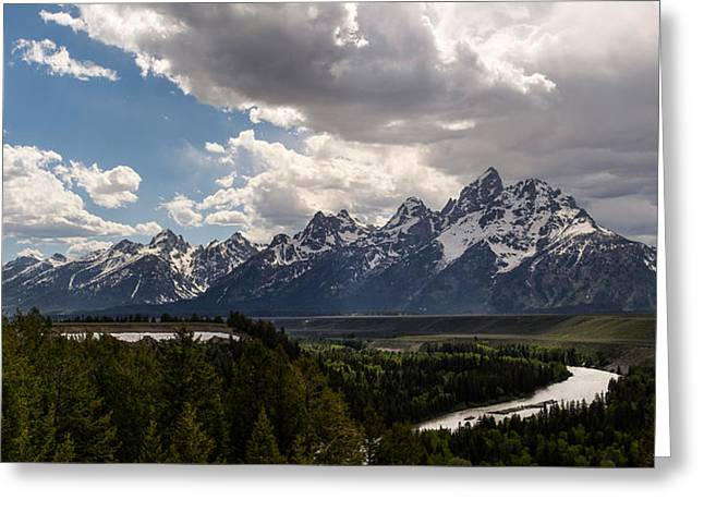 Taking Photographs Greeting Cards - Snake River Overlook Panorama Greeting Card by Aaron Spong