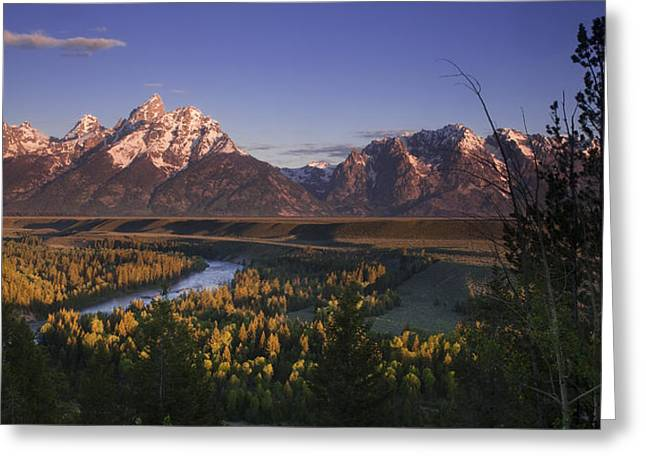 Snake River Panorama Greeting Card by Andrew Soundarajan