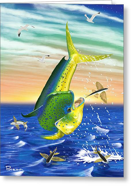Flying Fish Greeting Cards - Snap Shot Greeting Card by Kevin Putman