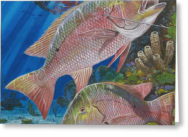 Snapper spear Greeting Card by Carey Chen