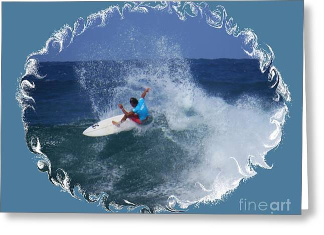 Surfing Photos Greeting Cards - Snapping One Off Greeting Card by Scott Cameron