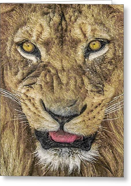 Wildcats Greeting Cards - Snarl Greeting Card by Ernie Echols