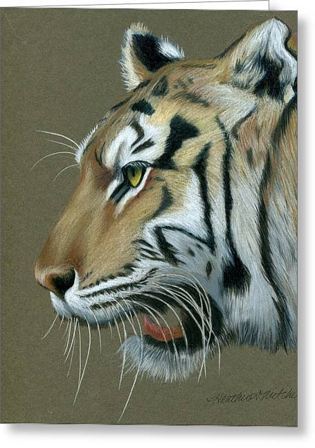 Mike The Tiger Greeting Cards - Snarl Greeting Card by Heather Mitchell