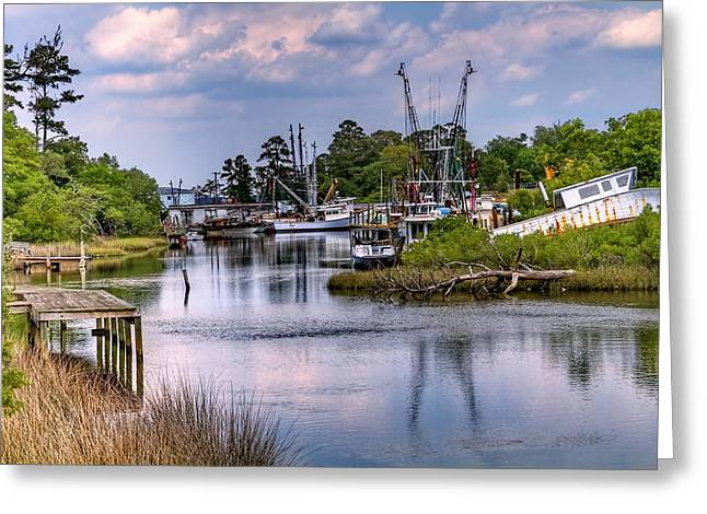 Snead Greeting Cards - Sneads Ferry Greeting Card by David Byron Keener
