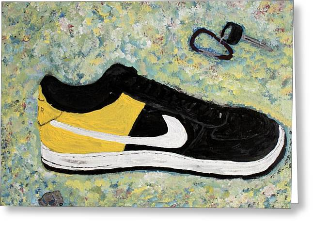Nike Greeting Cards - Sneaker and Sportcars Greeting Card by Mark Stiles