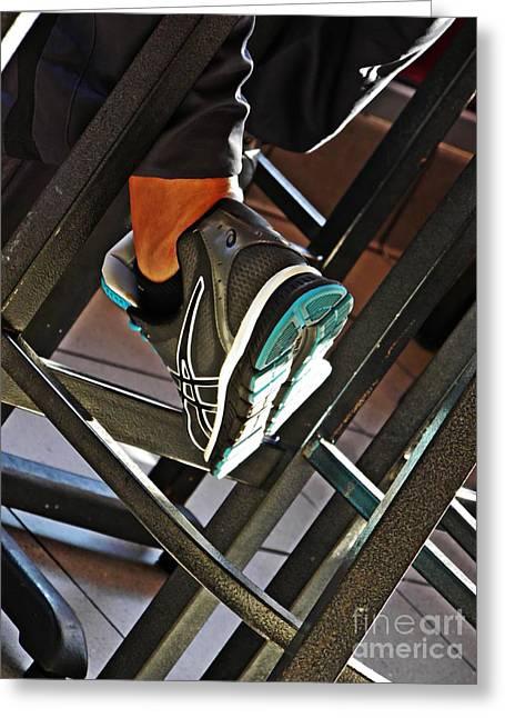 Sneaker Greeting Cards - Sneaker Greeting Card by Sarah Loft