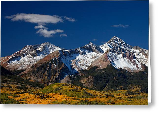 Autumn Prints Greeting Cards - Sneffels Clearing  Greeting Card by Darren  White