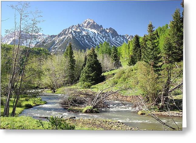 West Fork Greeting Cards - Sneffels in Springtime Greeting Card by Eric Glaser