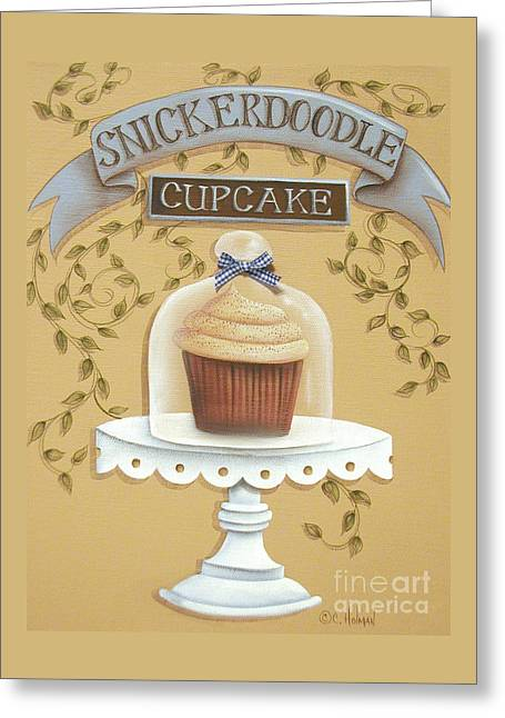 Catherine Holman Greeting Cards - Snickerdoodle Cupcake Greeting Card by Catherine Holman