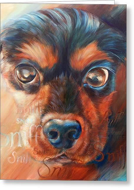 Spaniel Greeting Cards - Sniff Greeting Card by Vanessa Bates