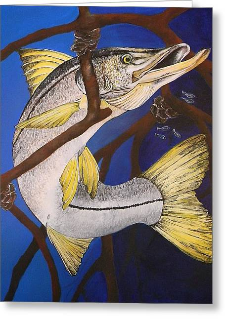 Lisa Bentley Greeting Cards - Snook Painting Greeting Card by Lisa Bentley