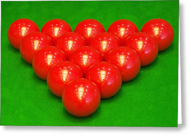 Recreational Pool Greeting Cards - Snooker balls Greeting Card by Guang Ho Zhu