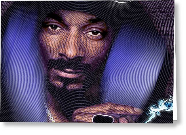 Recently Sold -  - African-american Greeting Cards - Snoop and Lyrics Greeting Card by Tony Rubino