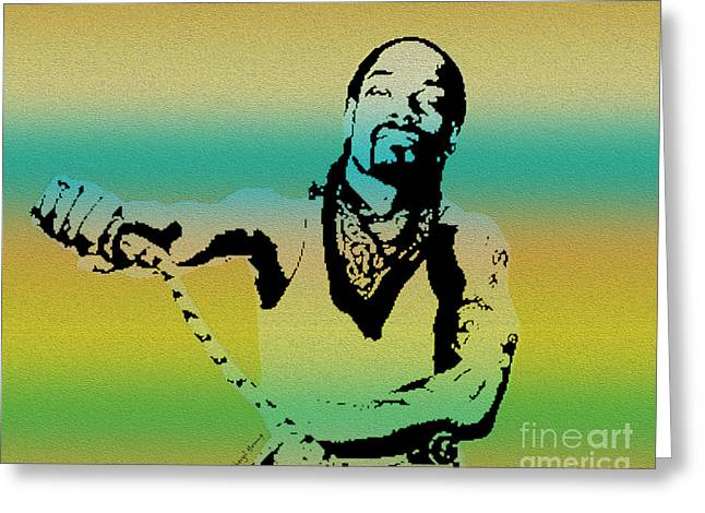 Snoop Greeting Card by Cheryl Young