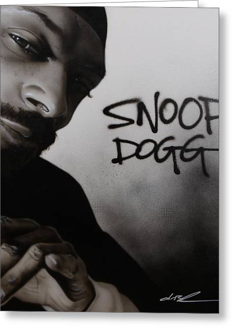 Contemporary Art Paintings Greeting Cards - Snoop Dogg Greeting Card by Christian Chapman Art