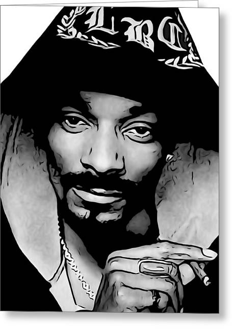 Cash Money Records Greeting Cards - Snoop Dogg Greeting Card by Dan Sproul