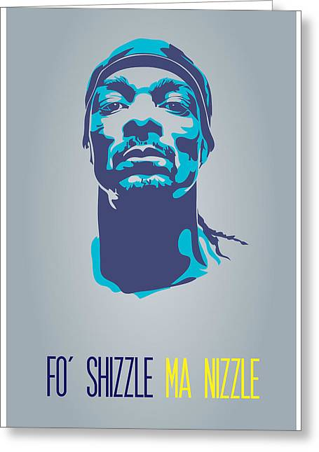 Hiphop Greeting Cards - Snoop Dogg Poster Art Greeting Card by Florian Rodarte