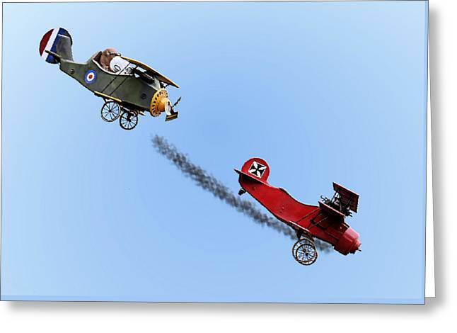 Camels Photographs Greeting Cards - Snoopy and the Red Baron Greeting Card by Kristin Elmquist