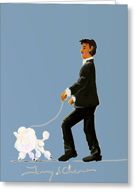 Terry Chacon Greeting Cards - Snooty Poodle Greeting Card by Terry  Chacon