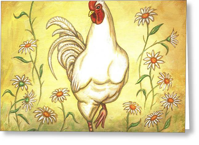 Snooty The Rooster Greeting Card by Linda Mears
