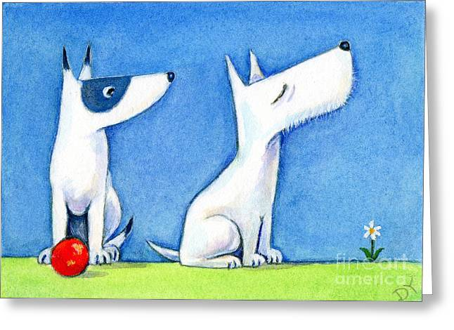 Scotty Dog Greeting Cards - Snooty Westie wont play Greeting Card by Diane Young