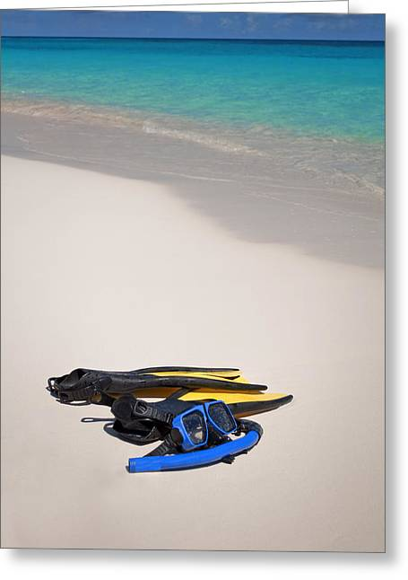 Snorkeling Photos Greeting Cards - Snorkeling gear. Greeting Card by Fernando Barozza