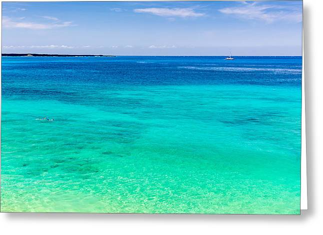 Snorkelling Greeting Cards - Snorkelling Blue Hawaii Greeting Card by Pierre Leclerc Photography