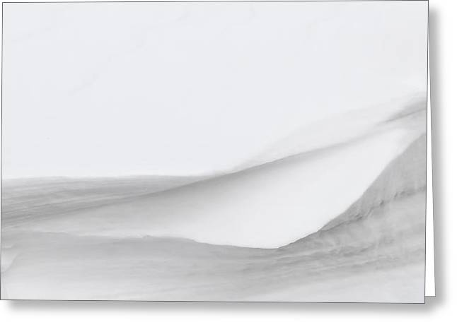Snow Abstract Greeting Cards - Layers of Snow Greeting Card by Wim Lanclus